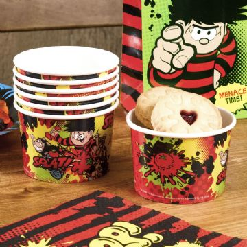 Beano, Dennis and Gnasher ice cream treat tubs - pack of 8